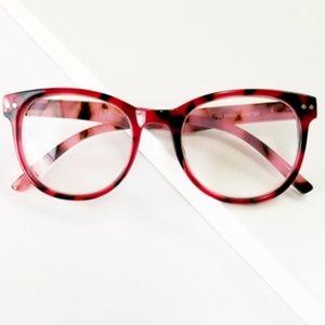Eden reading glasses in Tortoise Rose